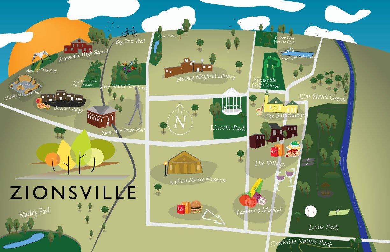 zionsville indiana map design